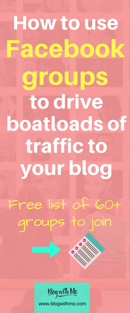 Facebook groups can drive massive traffic to your blog. Learn how to make the most of them and download a list of over 60 very helpful groups!