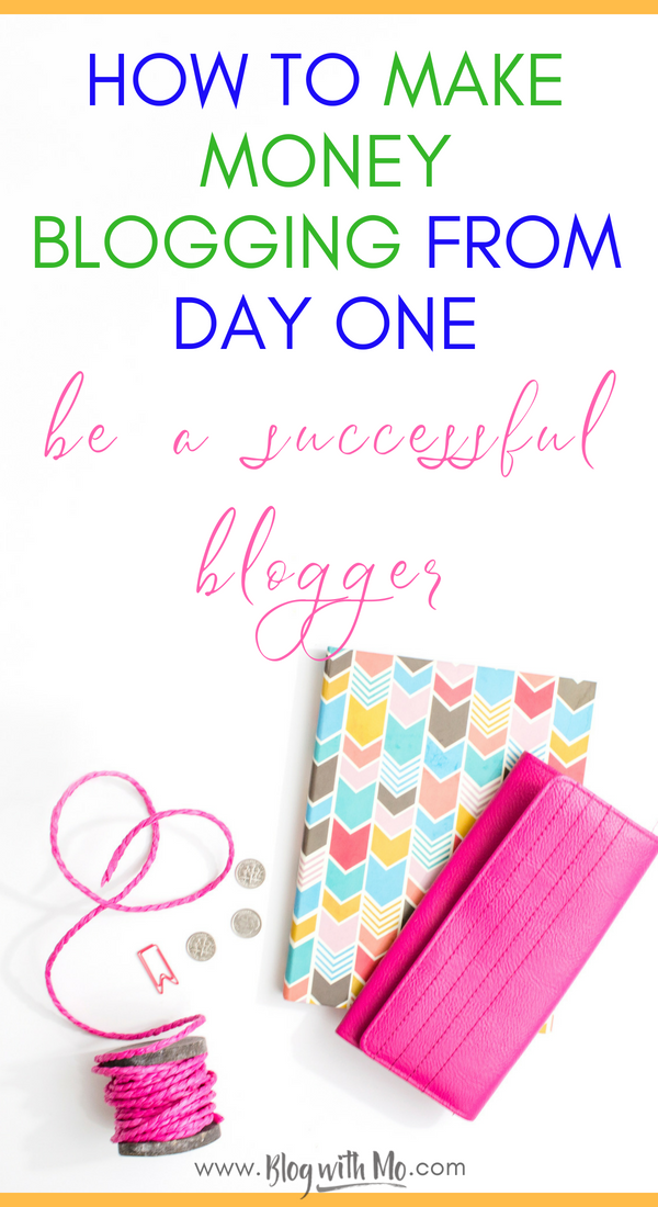 How to start a profitable blog: 5 reasons you should start a blog and how to make money blogging from day one. Blog strategy and guide to get started earning an income online right away.