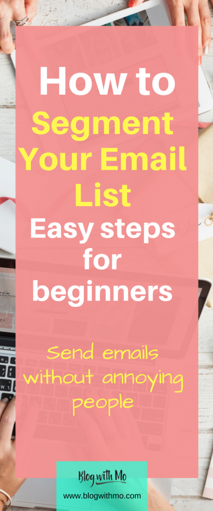 Step-by-step guide on creating email segments in ConvertKit. This allows you to send different emails to different sections of your email list based on your blog audience interests. This is a simple guide for beginner's and comes with a free 5 day email list building course.