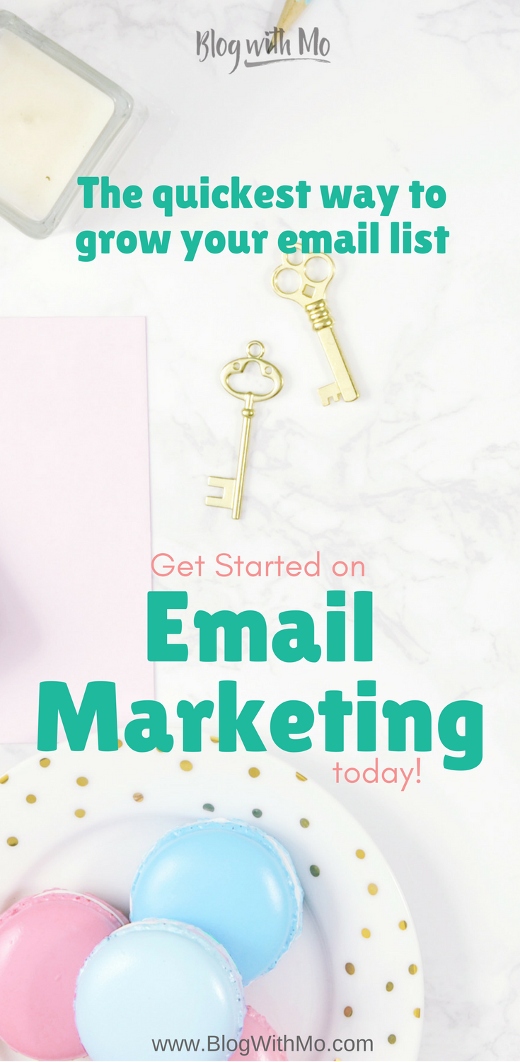 Learn how to grow your email list here! Every blog needs email marketing if you want to make money as a blogger. Find out why plus get tips on growing your email subscriber list. #emailmarketing Email marketing for bloggers 101