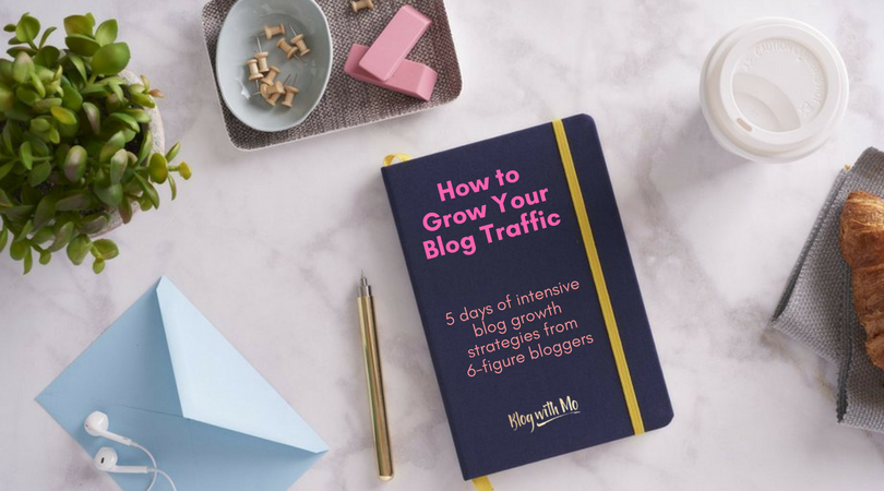 Free 5-day challenge on blog traffic growth designed to grow your audience by teaching you SEO basics and intermediate strategies plus the social media marketing tactics with the biggest payback in the shortest time.