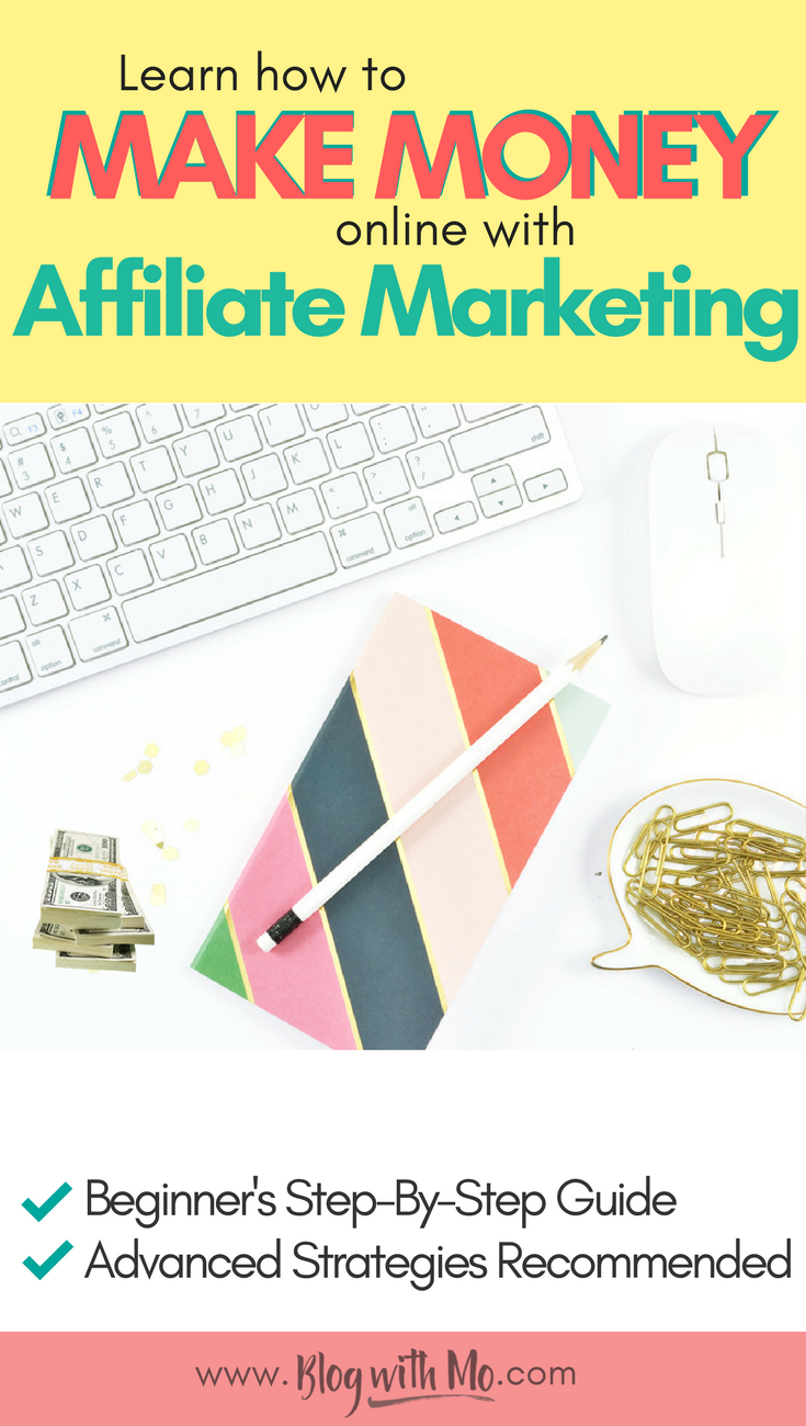 Affiliate marketing for beginners. Learn how to make money on Pinterest and get my best tips for affiliate marketing on your blog or with social media marketing.
