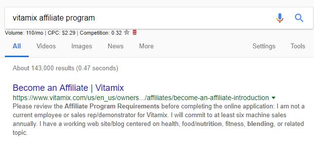 affiliate program example