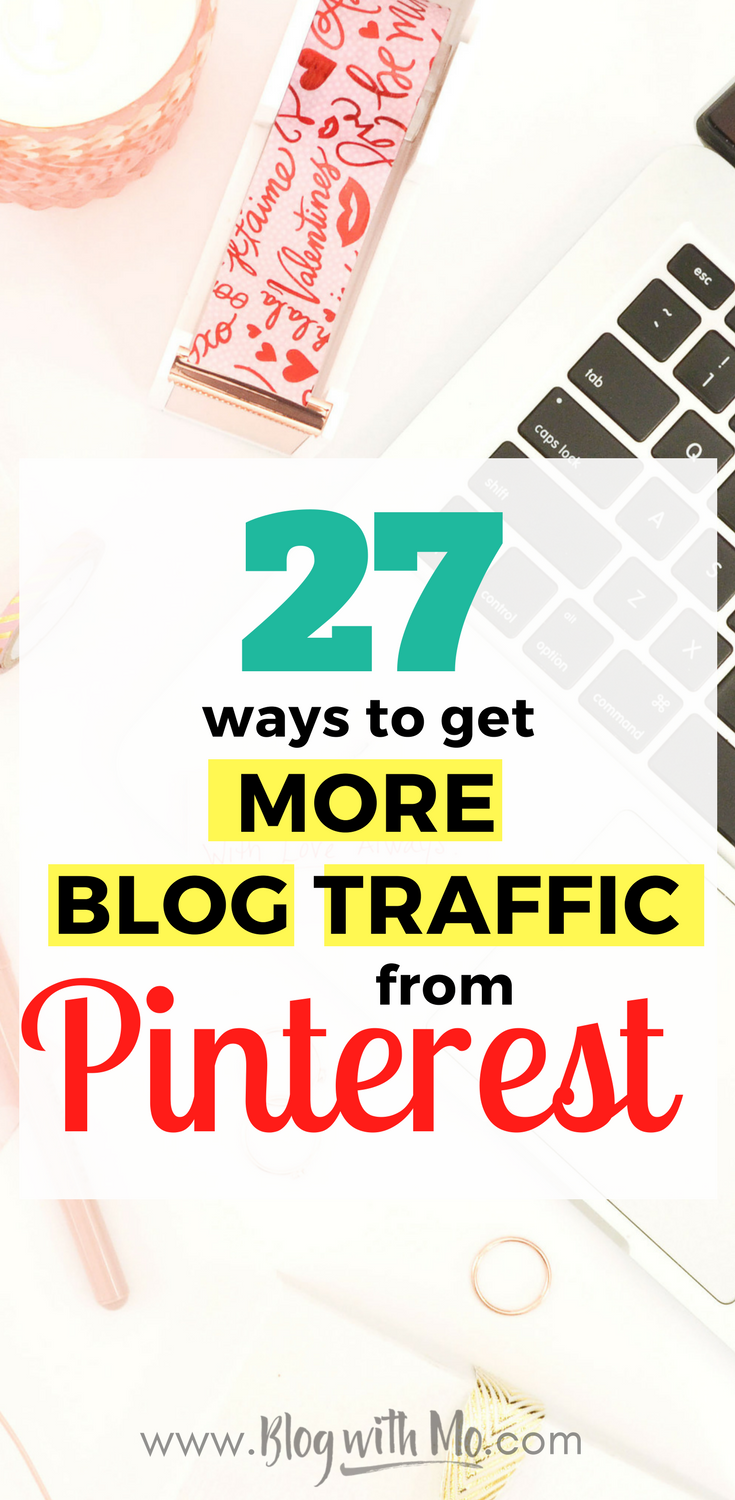 Pinterest everything: How to get more blog traffic from Pinterest. All you need to know to drive massive amounts of traffic to your blog every day.