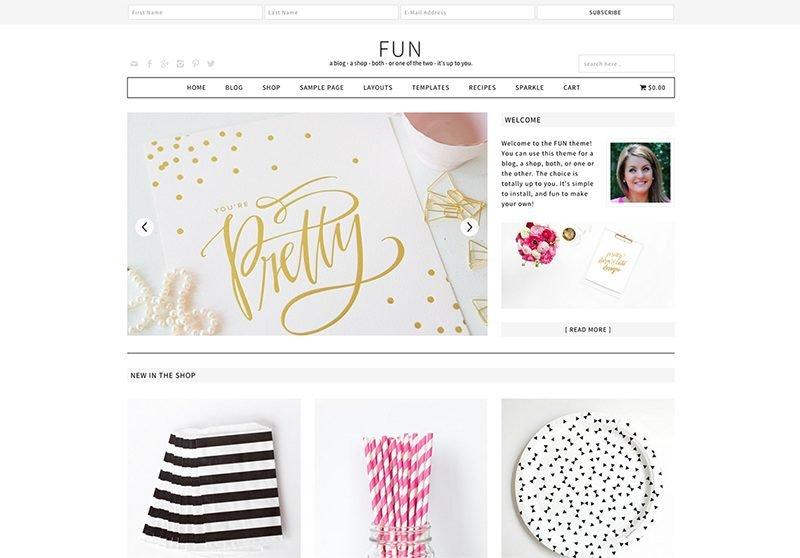 Fun WordPress Theme