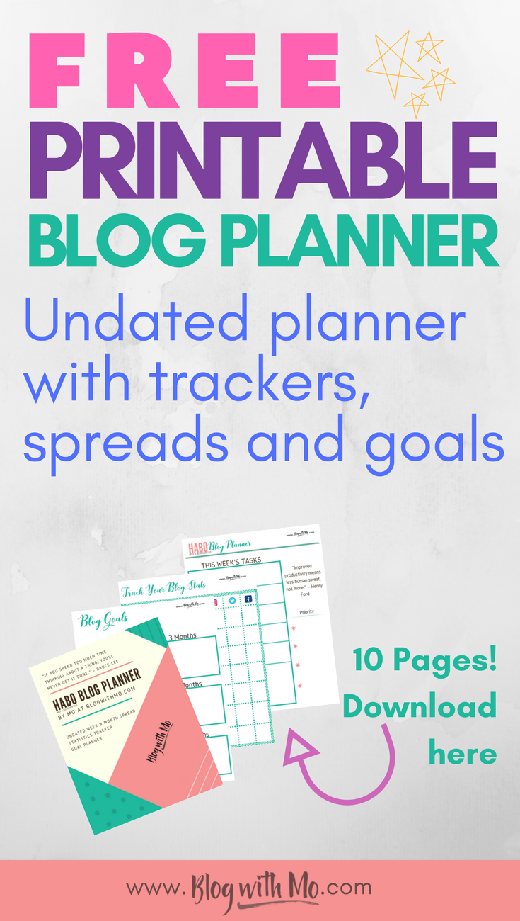 Free blog planner printable plus tips for those planning a blog launch
