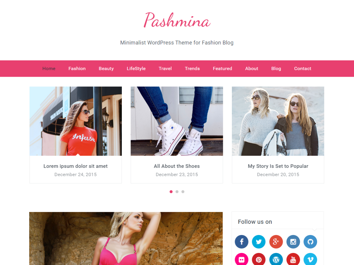 free wordpress girly theme