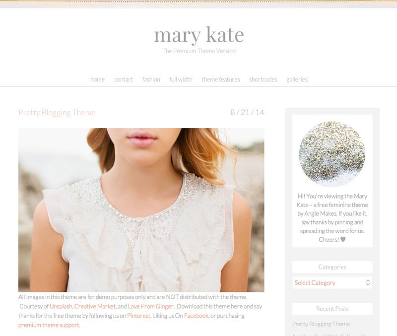 pretty free wordpress theme