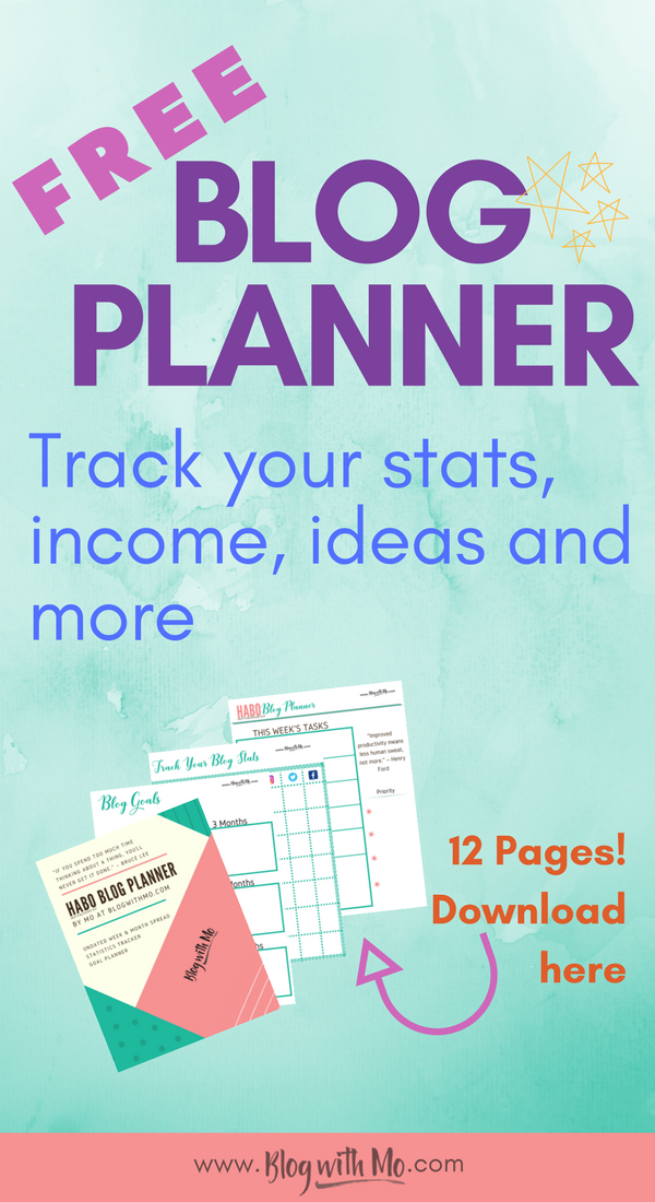 Free blog planner printable to help you grow your blog, set goals and achieve them, track your progress and make money blogging.