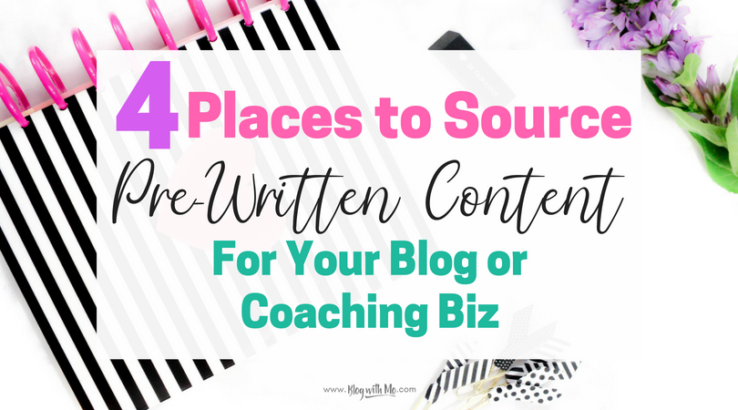 4 Places to Buy Articles and Done For You Content For Your Blog and Social Media Channels