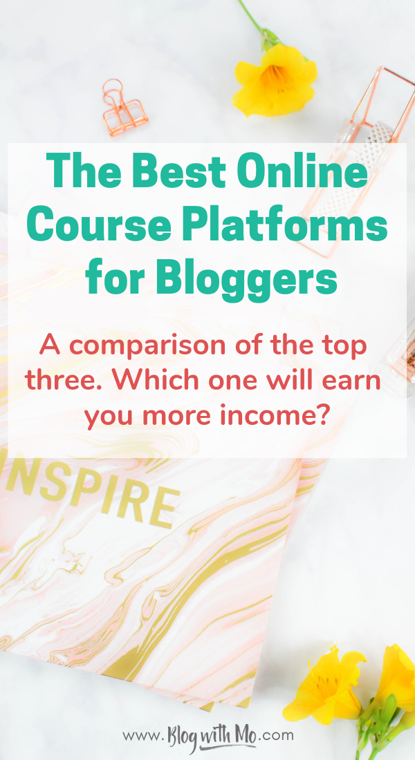 Thinkific vs Teachable vs Podia: The best online course platforms for bloggers compared. Which of these elearning platforms will help bloggers to make money online? Learn which blog course platform may be the right one for you #blogging #bloggingtips