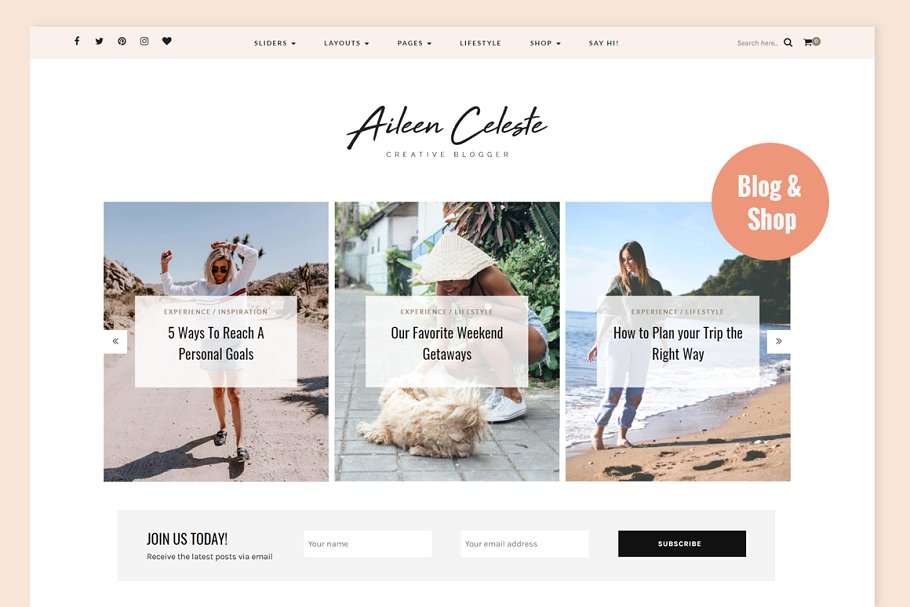 aileen wordpress theme