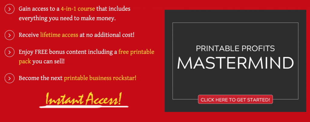 selling printables graphic