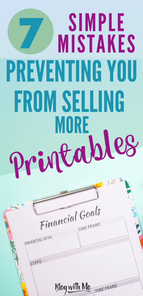 printables not selling